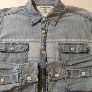 Men's Tommy Hilfiger Blue Chambray Denim Shirt